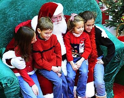 Santa Claus visits children