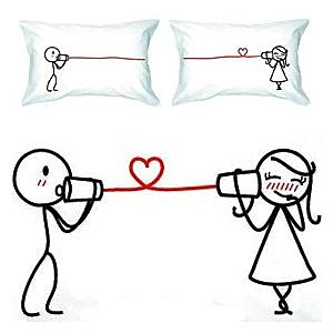 Valentine's Day Couples Pillowcases
