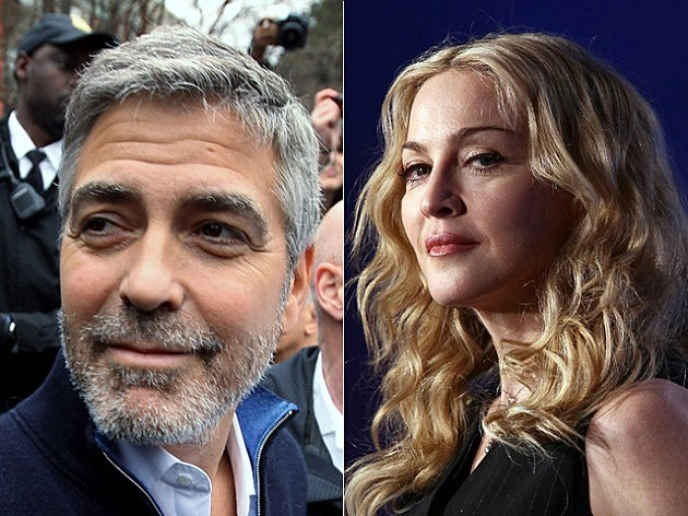 George Clooney and Madonna