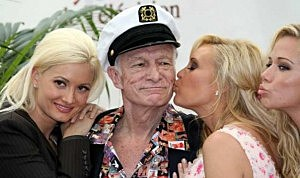 Hugh Hefner, Rob Banks WYRK JOY