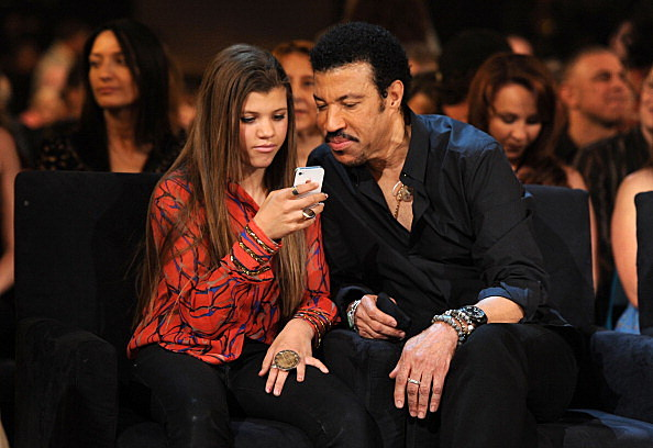 Photo of Lionel Richie & his  Daughter  Sofia Richie