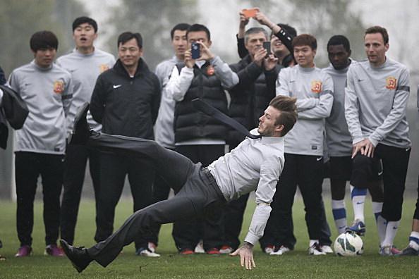 David Beckham Fall (Getty)