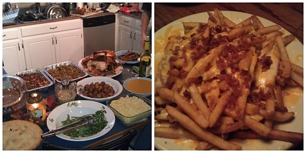 Thanksgiving Dinner- Josh Mock/ Cheese Fries- Outback (Heather's Facebook)