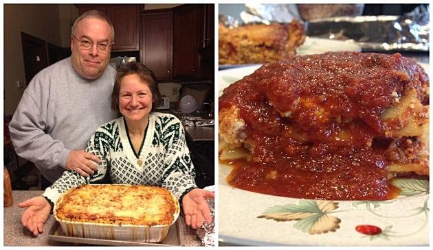 Mom and Dad/ Mom's Lasagna (Heather's Facebook)