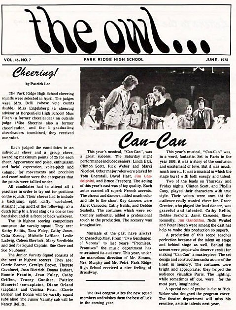 The Owl (Park Ridge High School Newspaper- June 1978)