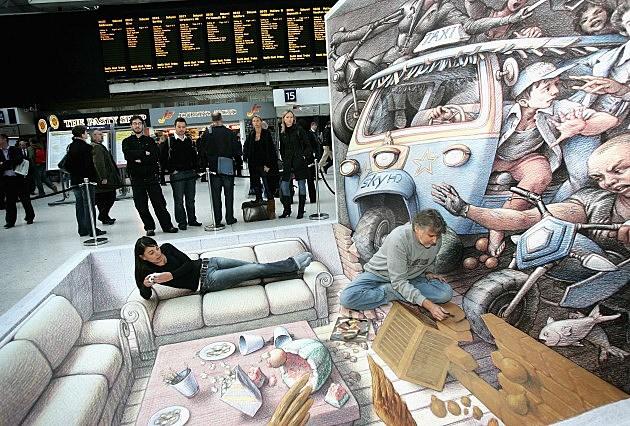 3D Street Artist Kurt Wenner (Getty)