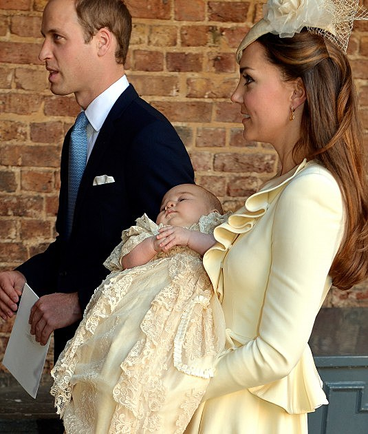 HRH Prince George Of Cambridge Is Christened At St James' Palace (Getty)