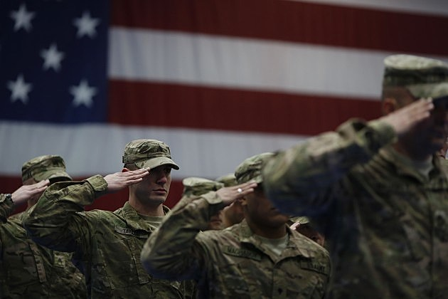 Military & Flag (Getty)