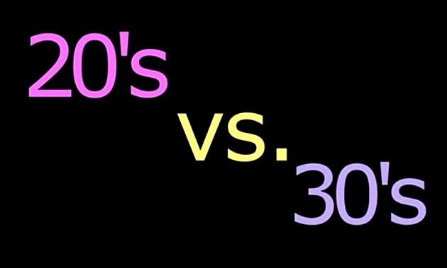 20s vs. 30s (YouTube/20s vs. 30s)