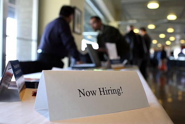 Now Hiring Sign (Getty)