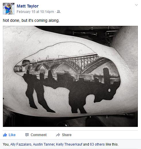 The coolest buffalo ny themed tattoos pictures for Tattoo buffalo ny