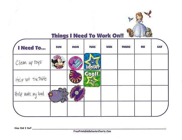 Mia Pusateri Behavior Chart
