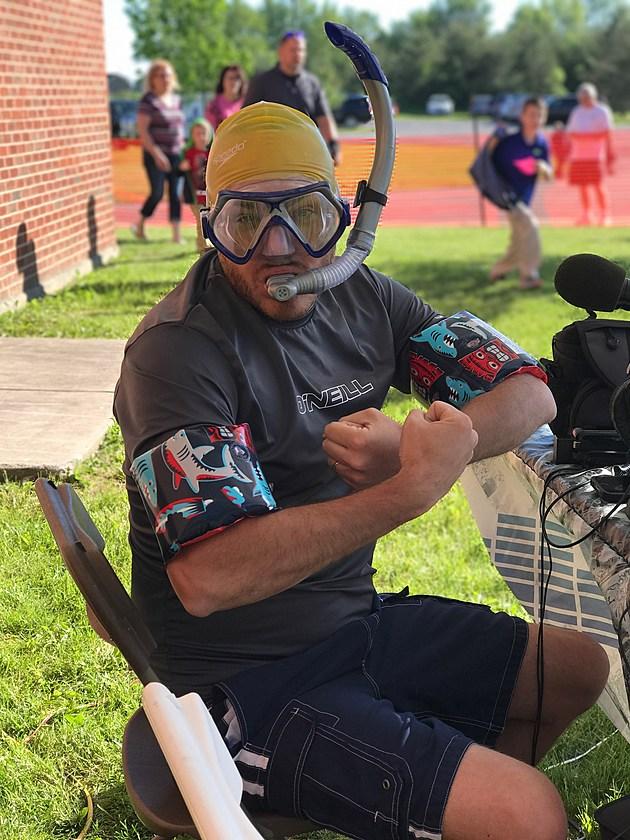 Tony P is ready for the Triathlon